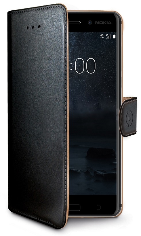 Billede af Nokia 6 flip cover med Dankortlommer Celly Wally