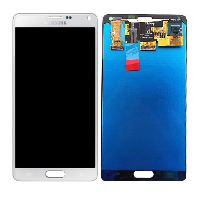 Original Spare Part Samsung - LCD Display + Touch Full Set - N910F Galaxy Note 4 - White