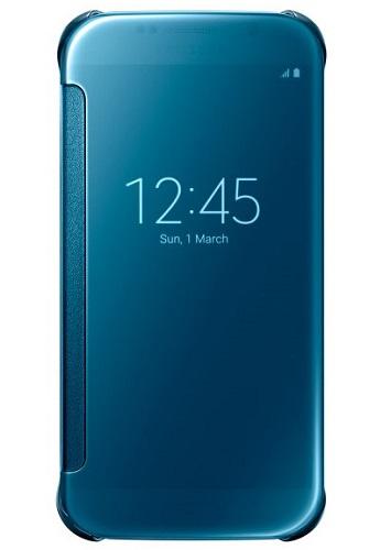 Billede af Samsung Galaxy S6 Clear View Flip Cover Originalt Blå