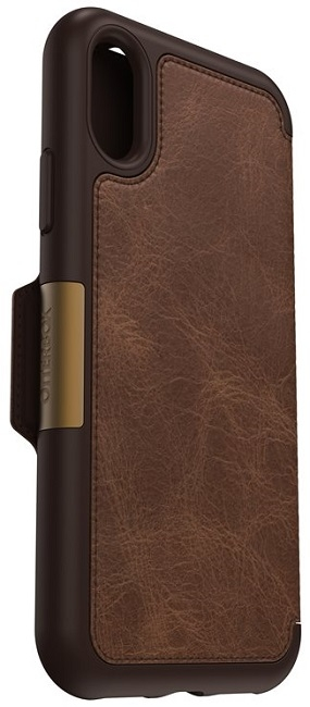 Image of   Otterbox Strada Folio cover iPhone X Brun