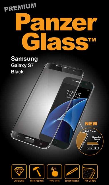 Billede af Panzer Glass Sikkerhedsglas Premium til Samsung S7 Sort Dækker hele fronten