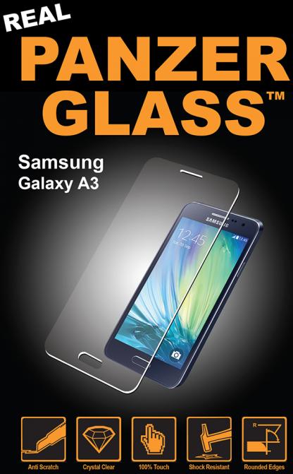 Billede af Panzer Glass Sikkerhedsglas Samsung Galaxy A3 (2016) Dækker ikke hele skærmen
