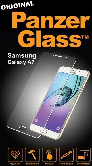 Billede af Panzer Glass Sikkerhedsglas Samsung Galaxy A7 (2016) Dækker ikke hele skærmen