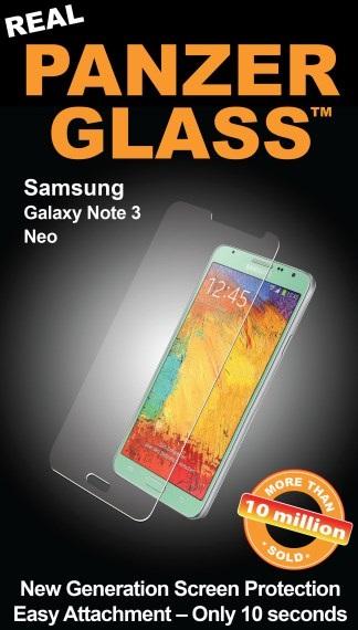 Billede af Panzer Glass Sikkerhedsglas Samsung Galaxy Note 3 Neo Dækker ikke hele skærmen
