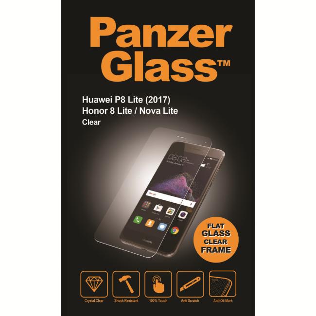Billede af Panzer Glass Sikkerhedsglas til Huawei P8 Lite 2017/Honor 8 Lite/Nova Lite