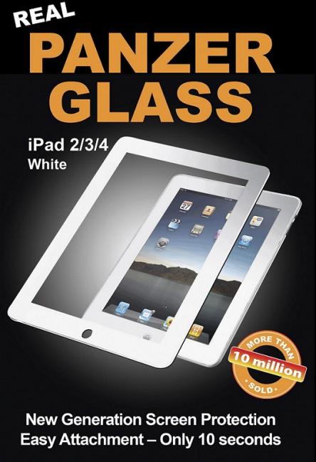 Image of   Panzer Glass Sikkerhedsglas til iPad 2/3/4 Retina med Hvid Ramme
