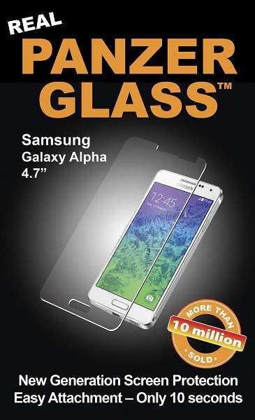 Panzer Glass Sikkerhedsglas til Samsung Galaxy Alpha