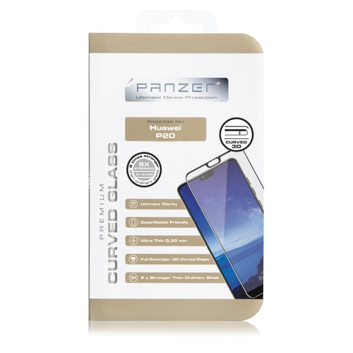 Panzer Tempered Glass Huawei P20 Curved Glass Black