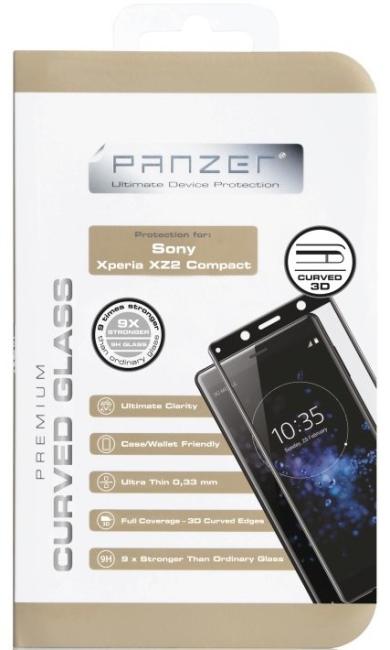 Billede af Panzer Tempered Glass til Sony Xperia XZ2 Compact Curved Sort