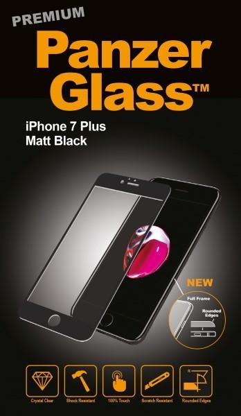 """Billede af Panzer Glass Sikkerhedsglas Premium iPhone 7 Plus( 5.5"""") Matt Sort"""