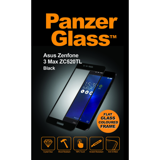 Image of   PanzerGlass Asus Zenfone 3 Max ZC520TL Black