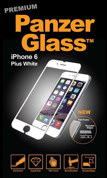 Billede af Panzer Glass Sikkerhedsglas der dækker hele skærmen til iPhone 6 Plus / 6S Plus Hvid