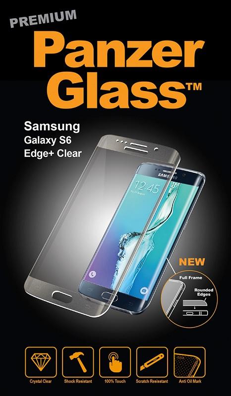 Billede af Panzer Glass Sikkerhedsglas med buet ramme til Samsung Galaxy S6 Edge+ (Plus) Clear