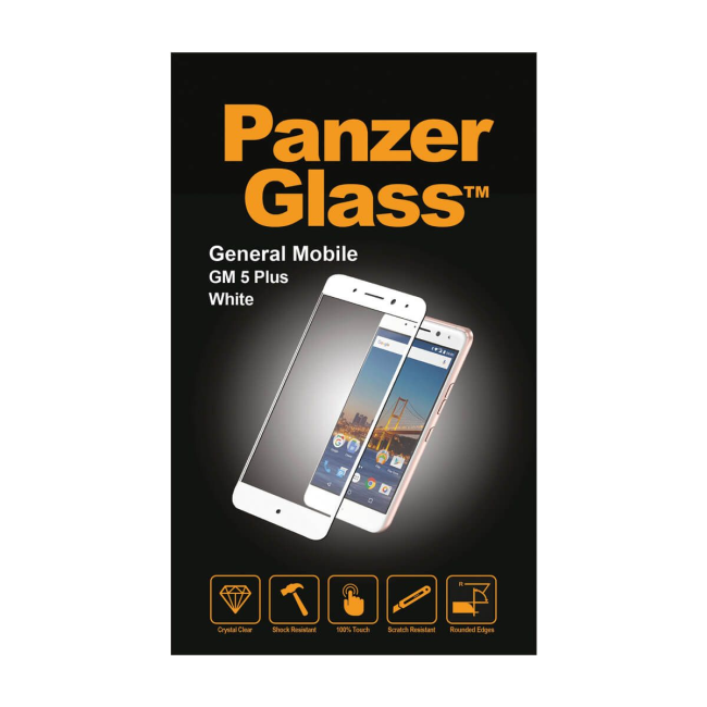 Image of   PanzerGlass General Mobile GM 5 Plus White