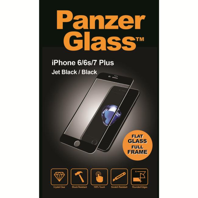 Image of   PanzerGlass iPhone 6/6s/7/8 Plus Jet Black/Black