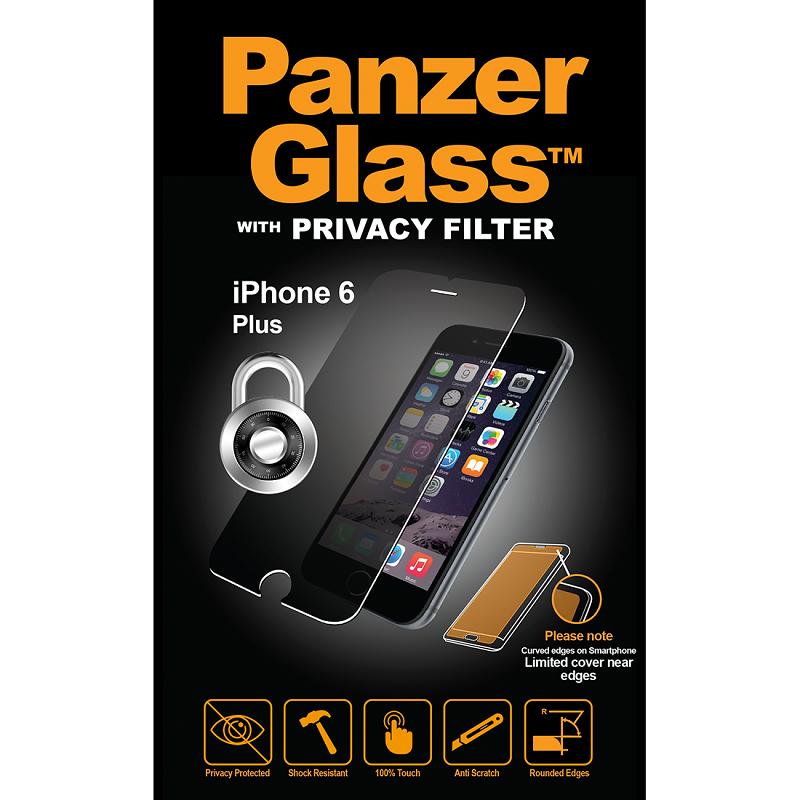 "Billede af Panzer Glass Sikkerhedsglas Premium Privacy Filter til iPhone 6 Plus/6S Plus/7 Plus/8 Plus (55"")"