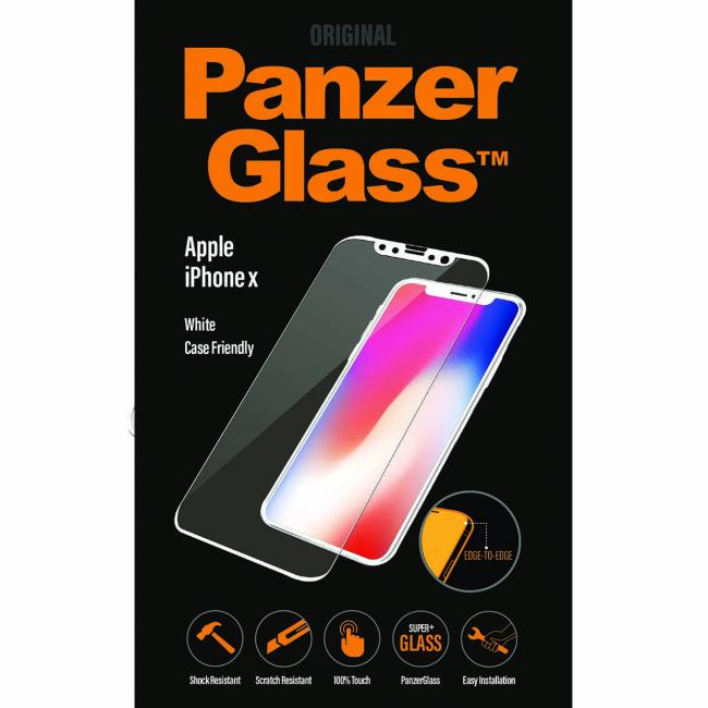 Image of   PanzerGlass iPhone X White Casefriendly
