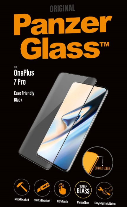 PanzerGlass Premium til OnePlus 7 Pro - Full-Fit Casefriendly Sort