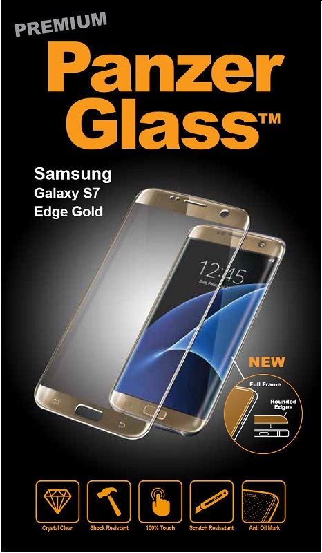 Billede af Panzer Glass Sikkerhedsglas Samsung Galaxy S7 dækker hele fronten Guld