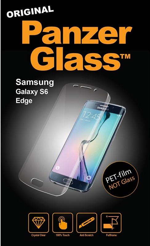 Image of   Panzer Glass PET-film (ikke sikkerhedsglas) til Samsung Galaxy S6 Edge