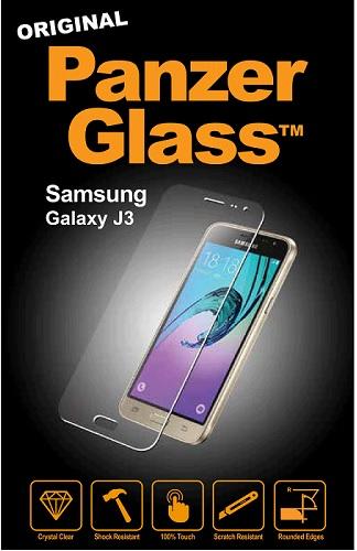 PanzerGlass til Samsung Galaxy J3 (2015 & 2016) Dækker ikke hele skærmen