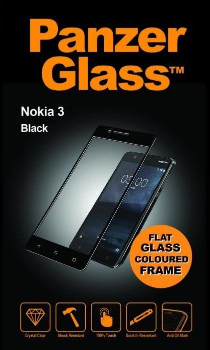 Billede af Panzer Glass Sikkerhedsglas Full Fit til Nokia 3 Sort