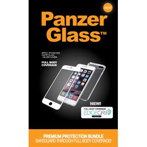 """Billede af Panzer Glass Sikkerhedsglas iPhone 6/6S 4.7"""" Hvid med Sølv Edge Grip Cover"""