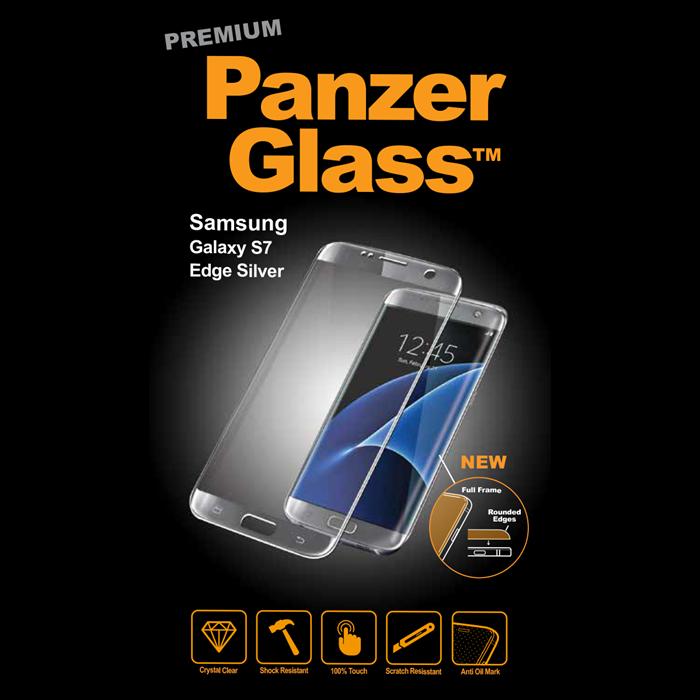 Billede af Panzer Glass Sikkerhedsglas Premium Samsung S7 Edge Sølv ramme