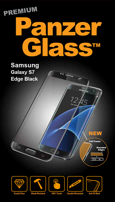 Billede af Panzer Glass Sikkerhedsglas Premium Samsung Galaxy S7 Edge Sort Full Fit