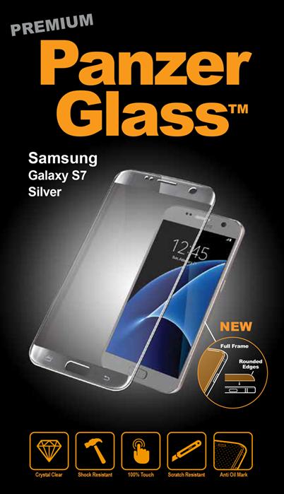Billede af Panzer Glass Sikkerhedsglas Samsung Galaxy S7 dækker hele fronten Sølv