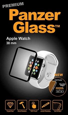 Billede af Panzer Glass Sikkerhedsglas Apple Watch 38mm med sort ramme