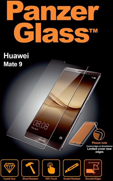 Billede af Panzer Glass Sikkerhedsglas Huawei Mate 9 Dækker ikke hele skærmen