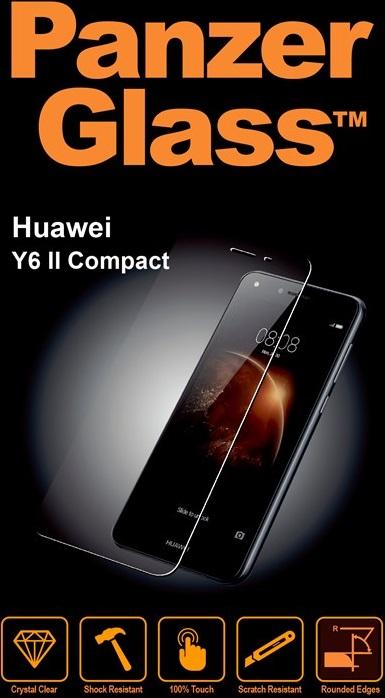 Billede af Panzer Glass Sikkerhedsglas Huawei Y6 II Compact Dækker ikke hele skærmen