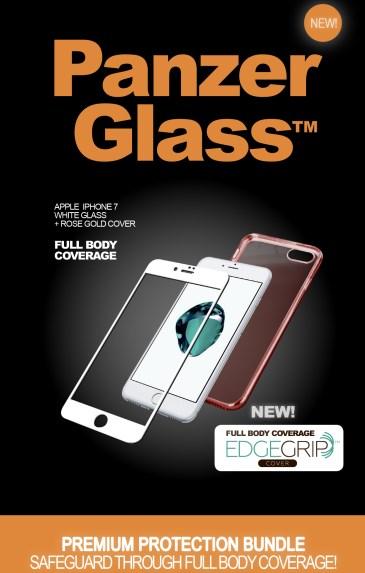 Billede af Panzer Glass Sikkerhedsglas Premium iPhone 7 Hvid med Rosegold cover