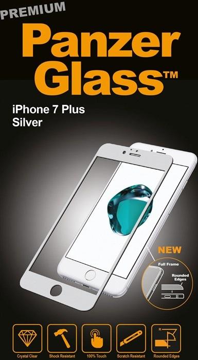 Billede af Panzer Glass Sikkerhedsglas Premium iPhone 7 Plus Sølv
