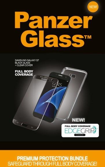Billede af Panzer Glass Sikkerhedsglas Premium Samsung Galaxy S7 Sort med clear cover