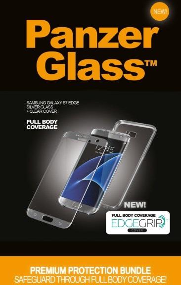 Billede af Panzer Glass Sikkerhedsglas Premium Samsung Galaxy S7 Edge Sølv med Clear cover