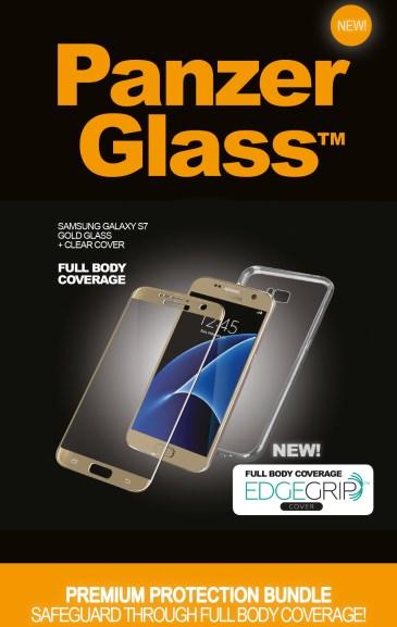 Billede af Panzer Glass Sikkerhedsglas Premium Samsung Galaxy S7 Guld med clear cover
