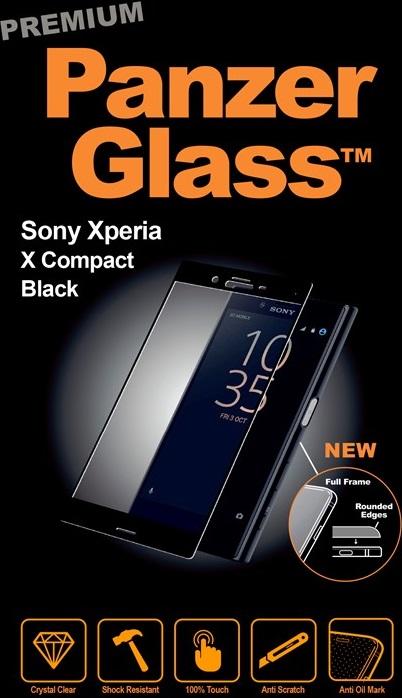 Billede af Panzer Glass Sikkerhedsglas Premium til Sony Xperia X Compact Sort