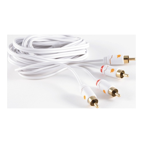 Billede af Phono Cable 2 x Phono Male - 2 x Male Stereo White 3m