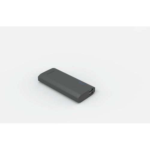 Image of   PowerBank 12500mAh 2USB-A 21A grå gummi