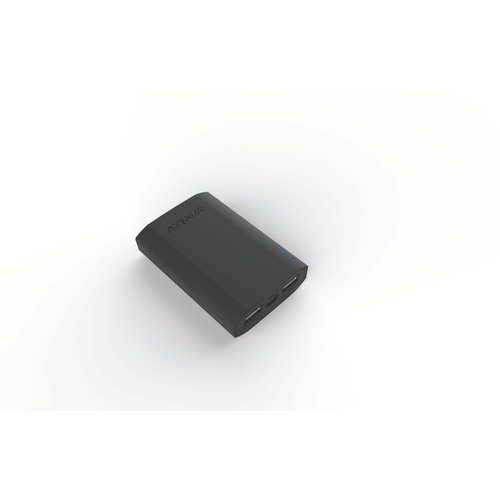 Image of   PowerBank 7500mAh 2USB-A 21A grå gummi
