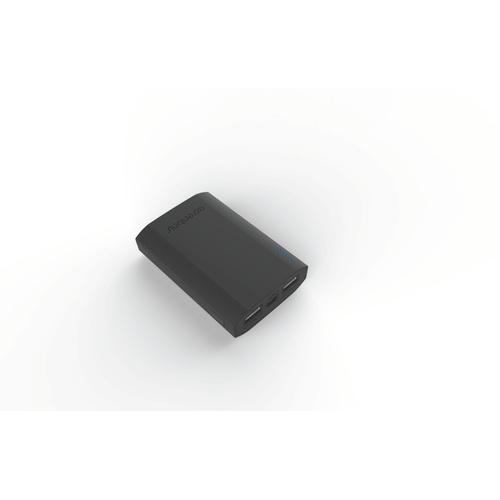 Image of   PowerBank 7500mAh 2USB-A 21A grå gummi