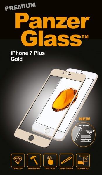 """Billede af Panzer Glass Sikkerhedsglas Premium iPhone 7 Plus 5.5"""" Guld"""