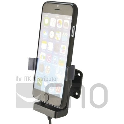 KRAM Fix2car Aktiv Halter Apple iPhone 6 Plus mit Cover USB-Kabel Zig.-Adapter