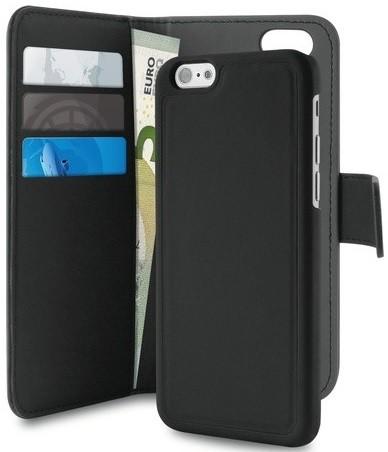 Billede af iPhone 8 / 7 / 6 / 6S Magnet pung taske og cover 2-i-1 fra Puro Sort