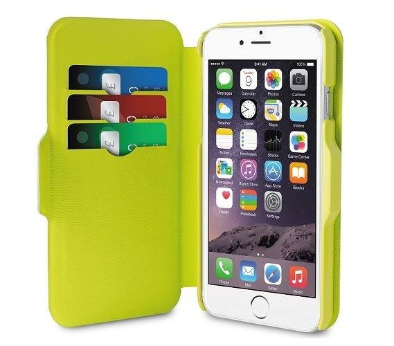 Billede af Puro iPhone 6 Plus Eco-leather Bi-Color Wallet Sort/Grøn