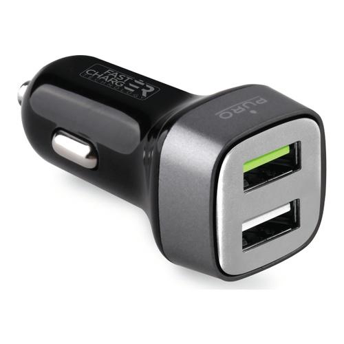 Billede af Puro Biloplader med 2 USB 2.4A Fast Charger Sort