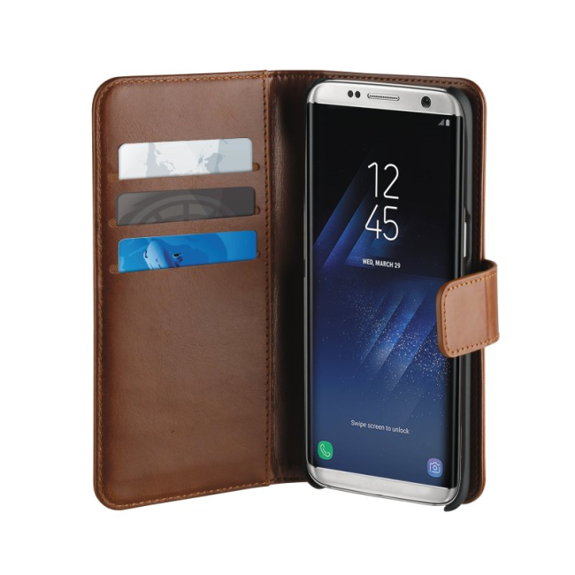 Image of   Puro Duetto 2in1 læder cover til Samsung Galaxy S8 Brun