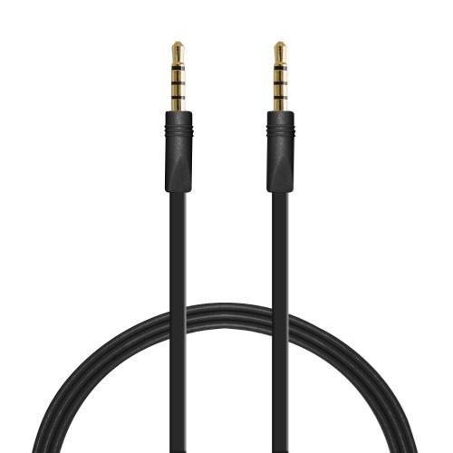 Image of   Puro fladt 35 mm AUX kabel - Sort